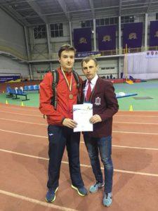 Микита Коваль став бронзовим призером у бігу на 60 метрів з бар'єрами